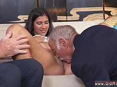 Assfucking, Group, Sex, High definition, Mature, Old man, Hotel, Anal, Vagina, Teen, Old, 3 some, Brunette