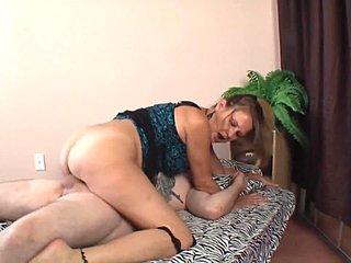 Casually mom with big tits fucks son