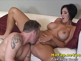 Big brunette milf tit
