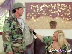 Uniform, Blonde, Boobs, Handjob, Pornstar, High definition, Fucking, Reality, Army, Tits, Hardcore, Big tits