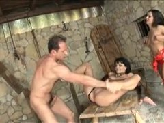 Sex, Group, Anal, Fucking, Sucking, Facial, Assfucking, Pussy, 3 some, Lingerie, Brunette, Cock, Tits, Bisexual, Blowjob