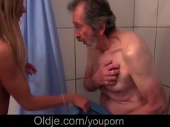 Cumshot, Teen, Vagina, Fucking, Shower, Cock, Bent over, Blowjob, Old and young, Doggystyle, Wrapped bondage, Young, Sex, Lick, Oral, Big tits, Old, Natural tits, Horny, Tits, Bathing, Sucking