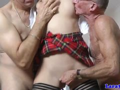 Old and young, Group, British, Milf, Spitting, 3 some, Old, Oral, Young, European, Facial