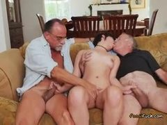 Dad and girl, Group, Masturbation, Handjob, Australian, Teen, Young, Old, Fingering, Cock, 3 some, Brunette, Old man
