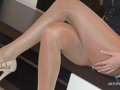 brunette strumpfhosen sex