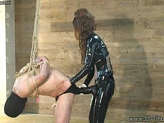 Big Strapon In His Ass Femdom