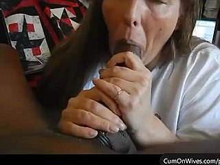 Amateur wife big black cock cum shot